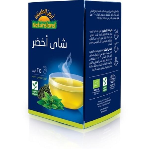 شاي أخضر عضوي من ارض الطبيعة