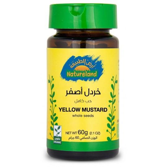 بهارات خردل اصفر (حب كامل) من أرض الطبيعة
