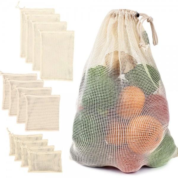 أكياس خضروات قطنية قابلة لإعادة الإستخدام
