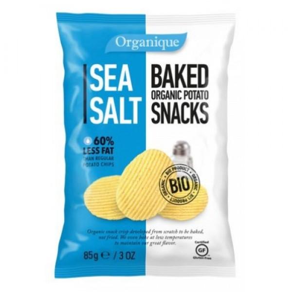 سناك البطاطس العضوية المحمصة اورجانيك مع الملح البحري