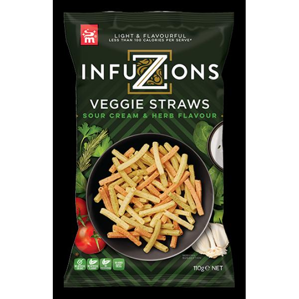 شيبس انفيوجن أصابع الخضروات بنكهة الساور كريم والأعشاب