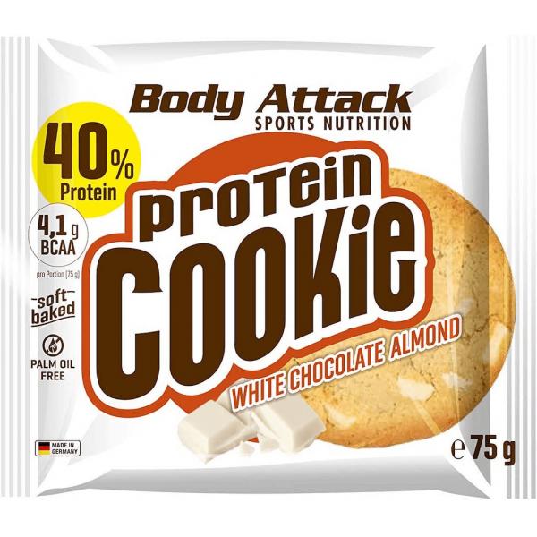 كوكيز البروتين شوكلاته بيضاء ولوز بودي أتاك