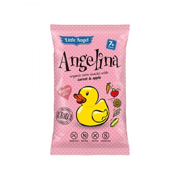 سناك الذرة العضوية Angelina بالجزر والتفاح