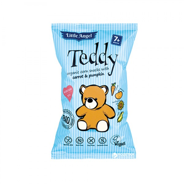 سناك الذرة العضوية Teddy بالجزر والقرع