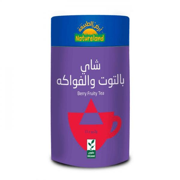 شاي بالتوت والفواكه أرض الطبيعة