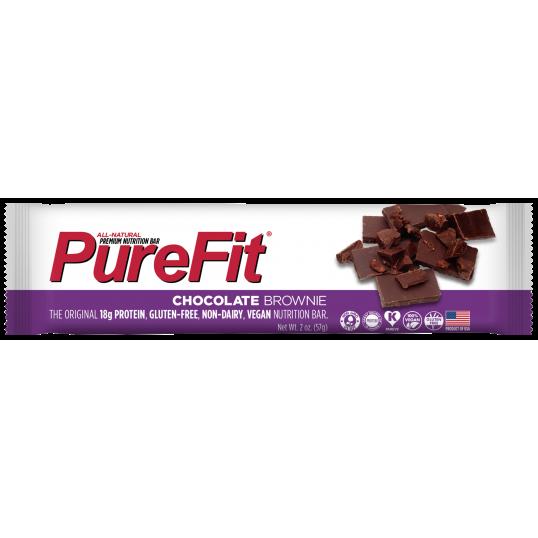 بروتين بار نباتي شوكلت براوني من بيور فيت