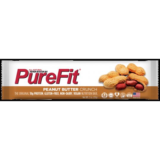 بروتين بار نباتي زبدة الفول السوداني من بيور فيت