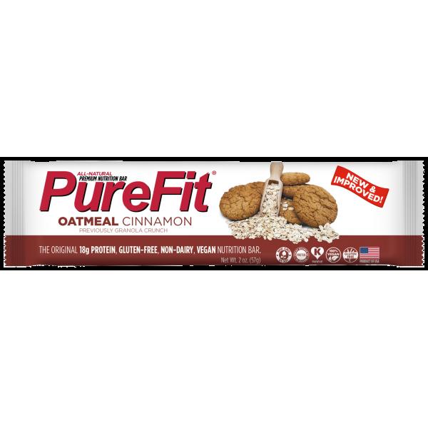 بروتين بار نباتي الشوفان والقرفة من بيور فيت