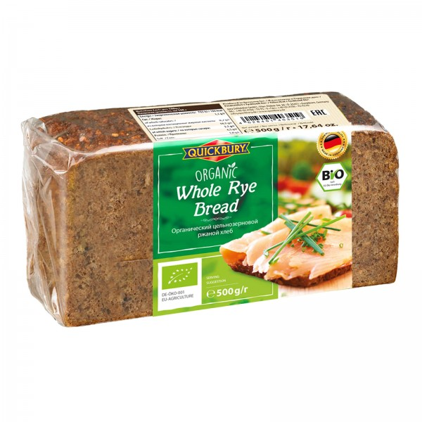 خبز عضوي بدقيق الجاودار من كويك بيرون