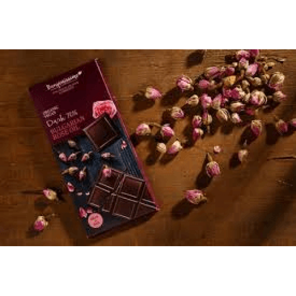 شوكولاته داكنة عضوية بزيت الورد البلغاري بينجاميسمو