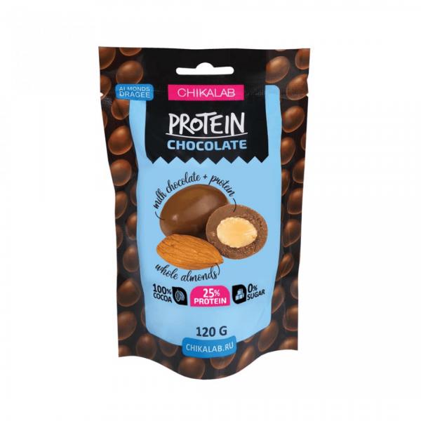 كرات الشوكلاته باللوز عالي البروتين شيك لاب