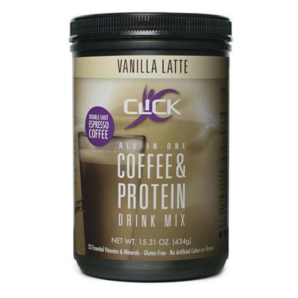 قهوة عالية البروتين بنكهة فانيلا لاتيه Click
