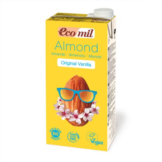 حليب اللوز العضوي بنكهة الفانيلا