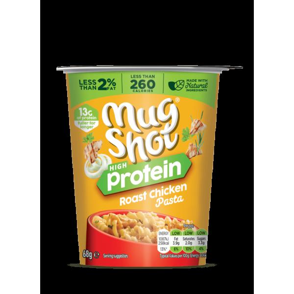 كوب باستا عالي البروتين الدجاج المشوي مق شوت