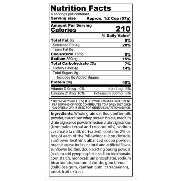 خليط البانكيك سنستر لابز عالي البروتين بنكهة الشوكولاتة